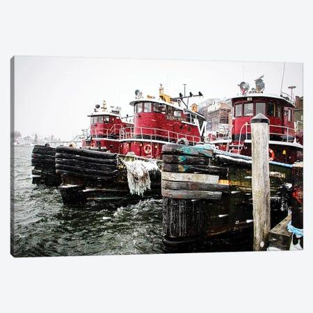 Winter Tugs Canvas Print #DEO105} by Debbra Obertanec Art Print