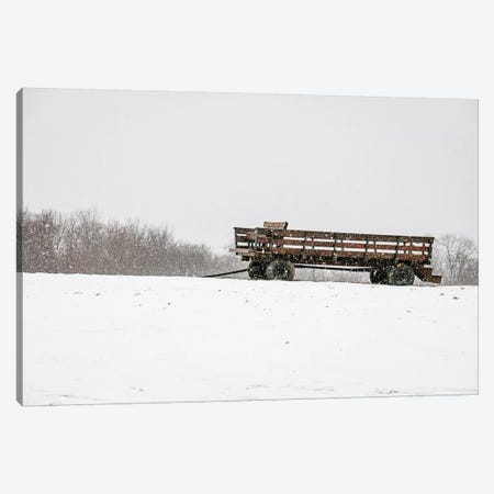 Winter Wagon Canvas Print #DEO106} by Debbra Obertanec Canvas Print