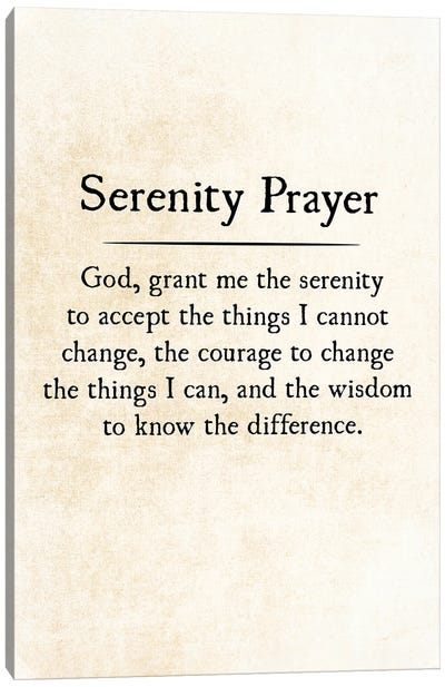 Serenity Prayer Canvas Art Print