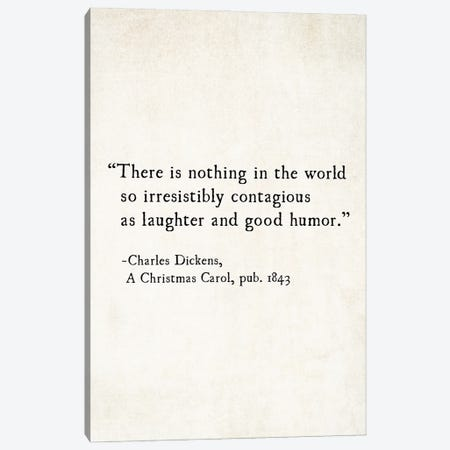 Charles Dickens Laughter And Good Humor Canvas Print #DEO115} by Debbra Obertanec Canvas Art