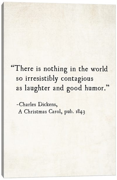 Charles Dickens Laughter And Good Humor Canvas Art Print
