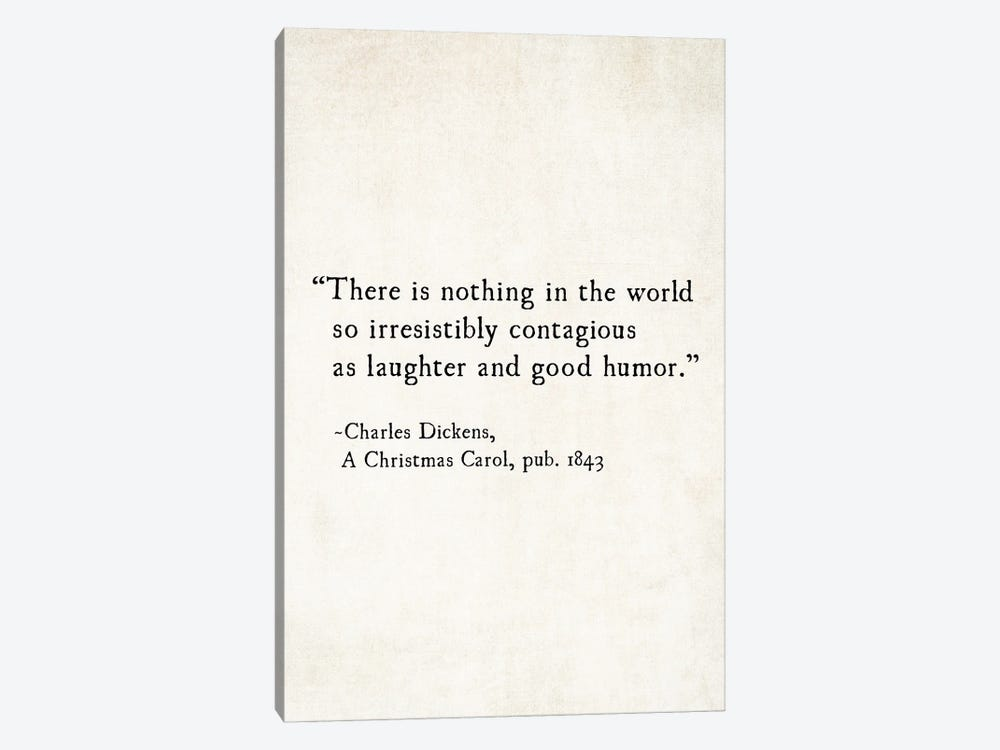 Charles Dickens Laughter And Good Humor by Debbra Obertanec 1-piece Art Print
