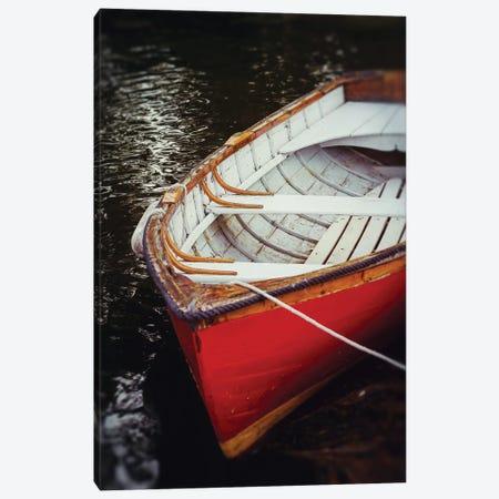 Red Boat Canvas Print #DEO116} by Debbra Obertanec Canvas Wall Art