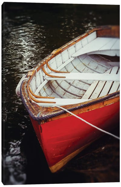 Red Boat Canvas Art Print