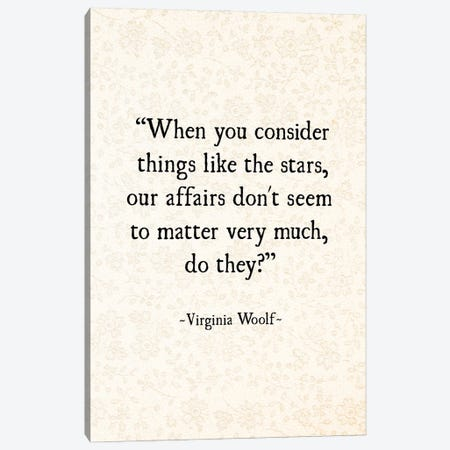 Virginia Woolf And The Stars Canvas Print #DEO118} by Debbra Obertanec Art Print