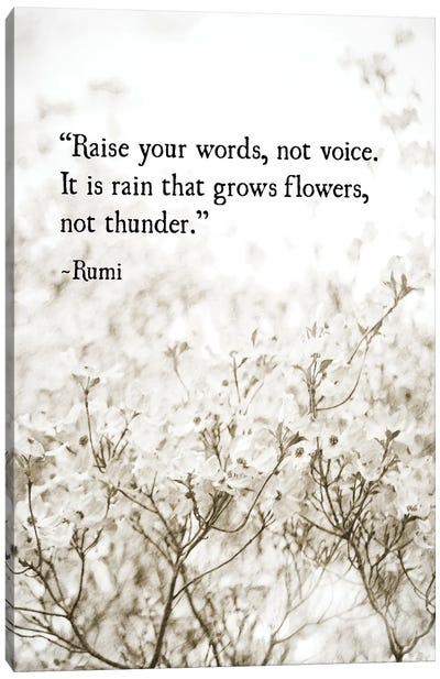 Rumi Love Canvas Art Print