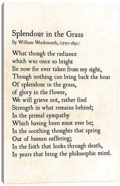 Splendour In The Grass Canvas Art Print