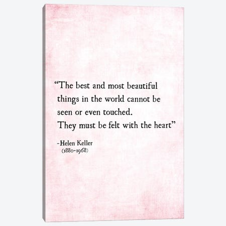Most Beautiful Things, Helen Keller Canvas Print #DEO133} by Debbra Obertanec Art Print