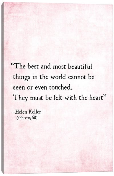 Most Beautiful Things, Helen Keller Canvas Art Print
