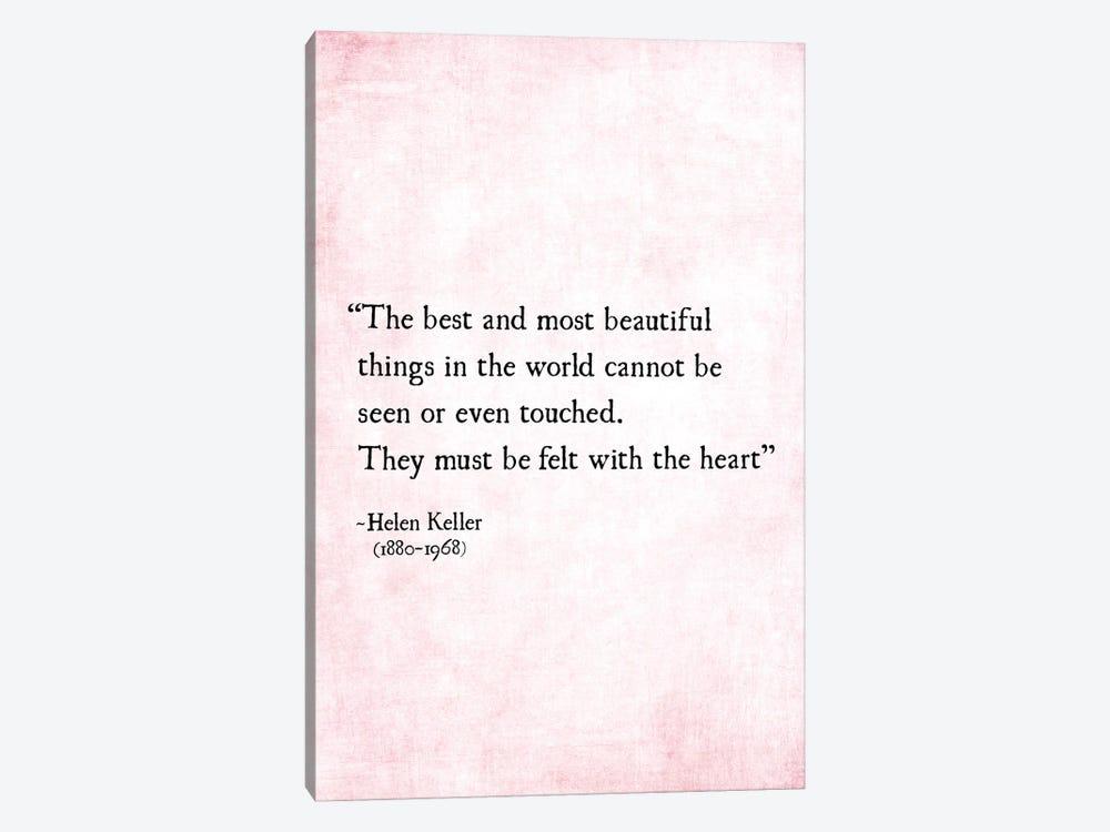 Most Beautiful Things, Helen Keller by Debbra Obertanec 1-piece Canvas Art Print
