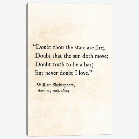 Stars, William Shakespeare Canvas Print #DEO134} by Debbra Obertanec Canvas Wall Art