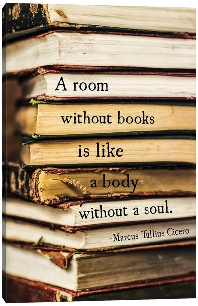 A Room Without Books, Cicero Canvas Art Print