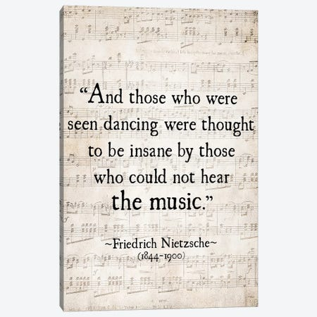 Fredrich Nietzsche Canvas Print #DEO21} by Debbra Obertanec Canvas Wall Art
