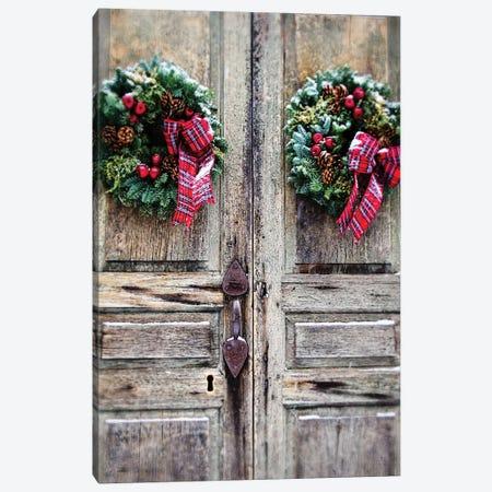 Holiday Door Canvas Print #DEO25} by Debbra Obertanec Canvas Print
