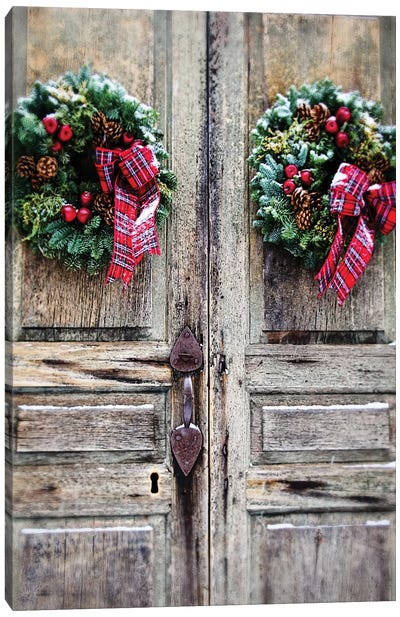 Holiday Door Canvas Art Print
