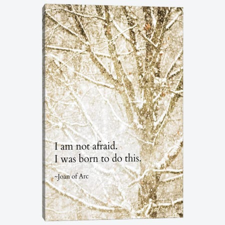 I Am Not Afraid Canvas Print #DEO30} by Debbra Obertanec Art Print