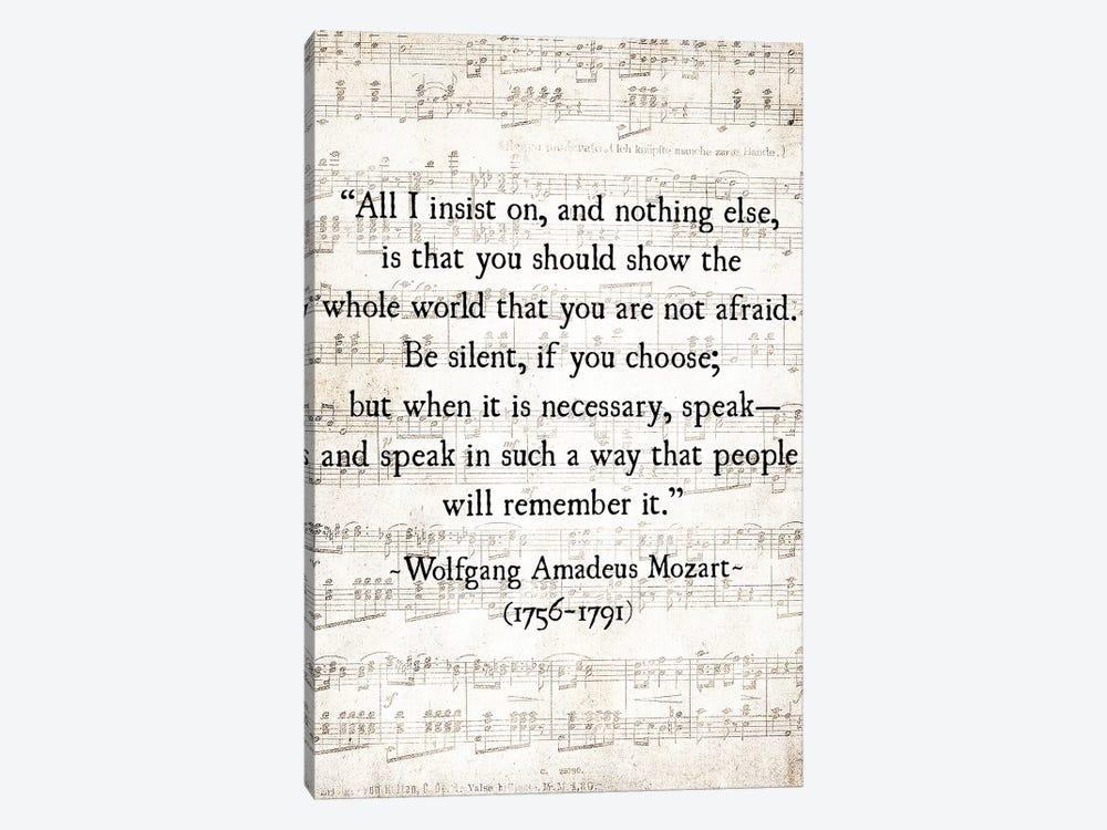All I Insist On Mozart by Debbra Obertanec 1-piece Art Print