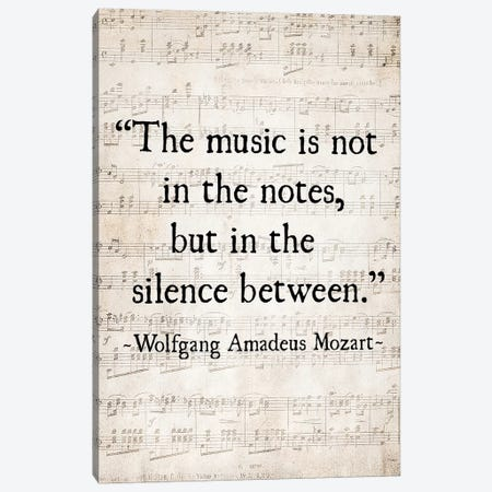Music Is Not In The Notes Canvas Print #DEO43} by Debbra Obertanec Canvas Wall Art