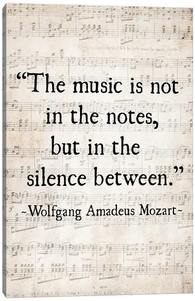 Music Is Not In The Notes Canvas Art Print