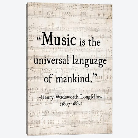 Music Is The Universal Language Canvas Print #DEO44} by Debbra Obertanec Canvas Art Print