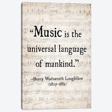 Music Is The Universal Language Canvas Print #DEO44} by Debbra Obertanec Canvas Art Print