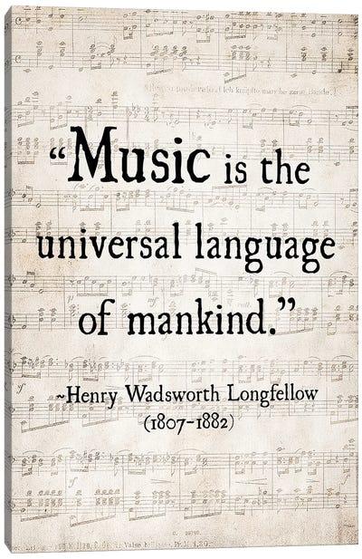 Music Is The Universal Language Canvas Art Print