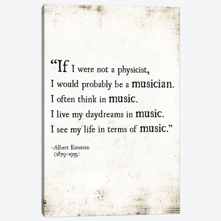 My Life In Music Canvas Print #DEO45} by Debbra Obertanec Art Print