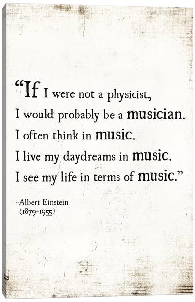 My Life In Music Canvas Art Print