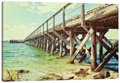 Ocean Pier Canvas Art Print