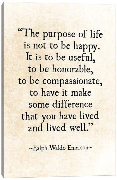 Purpose Of Life Canvas Art Print