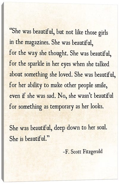 She Is Beautiful Canvas Art Print