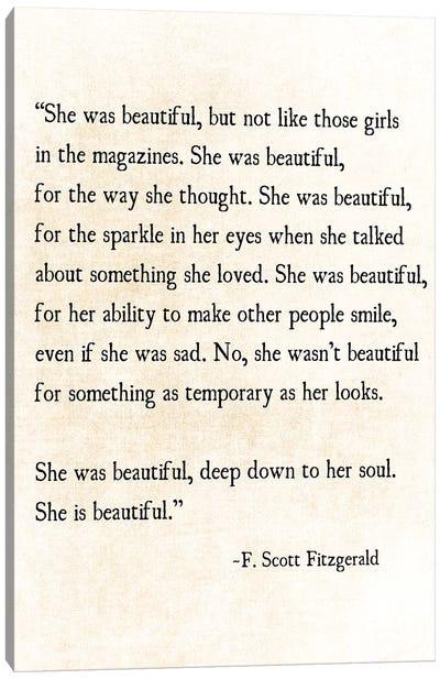 She Is Beautiful Canvas Art Print