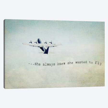 She Wanted To Fly Canvas Print #DEO71} by Debbra Obertanec Canvas Print