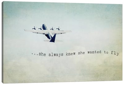 She Wanted To Fly Canvas Art Print