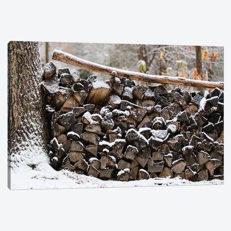 The Wood Pile Canvas Print #DEO82} by Debbra Obertanec Canvas Artwork