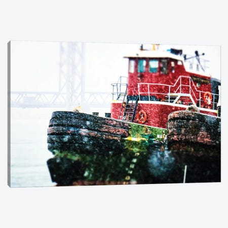 Tugs In The Winter Canvas Print #DEO85} by Debbra Obertanec Canvas Art Print