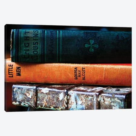 Vintage Books Canvas Print #DEO89} by Debbra Obertanec Canvas Wall Art