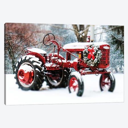 Vintage Tractor Canvas Print #DEO96} by Debbra Obertanec Canvas Wall Art