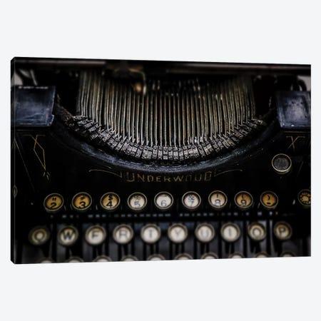 Vintage Typewriter Canvas Print #DEO97} by Debbra Obertanec Canvas Artwork