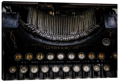 Vintage Typewriter Canvas Art Print