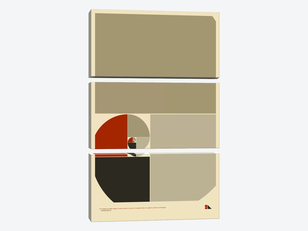 Golden Ratio by 2046 Design 3-piece Art Print