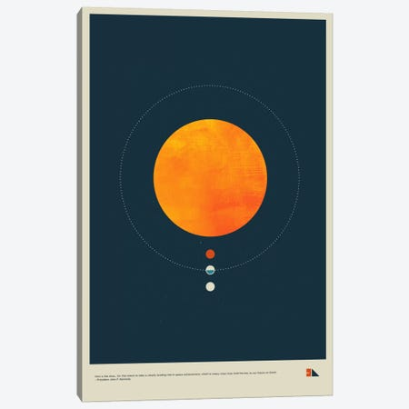 Habitable Zone Canvas Print #DES11} by 2046 Design Art Print