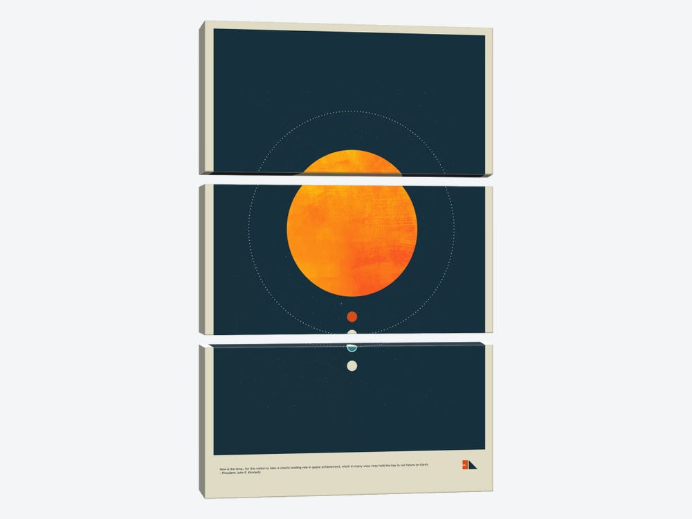 Habitable Zone by 2046 Design 3-piece Canvas Wall Art