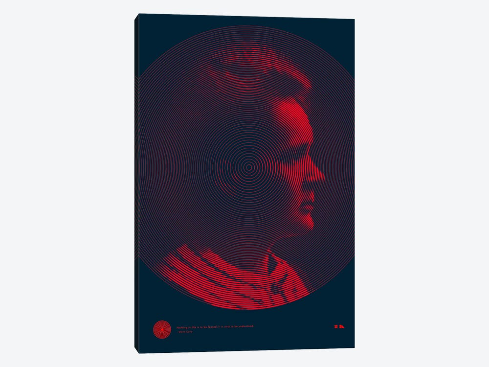 Marie Curie by 2046 Design 1-piece Canvas Art Print