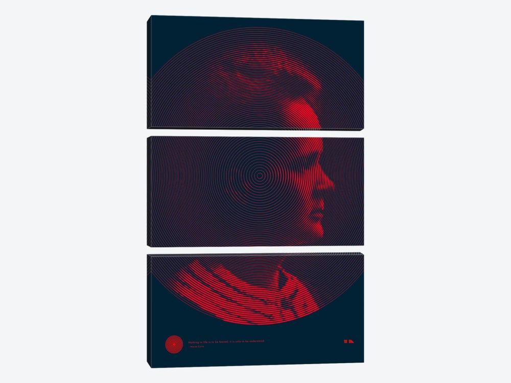 Marie Curie by 2046 Design 3-piece Art Print