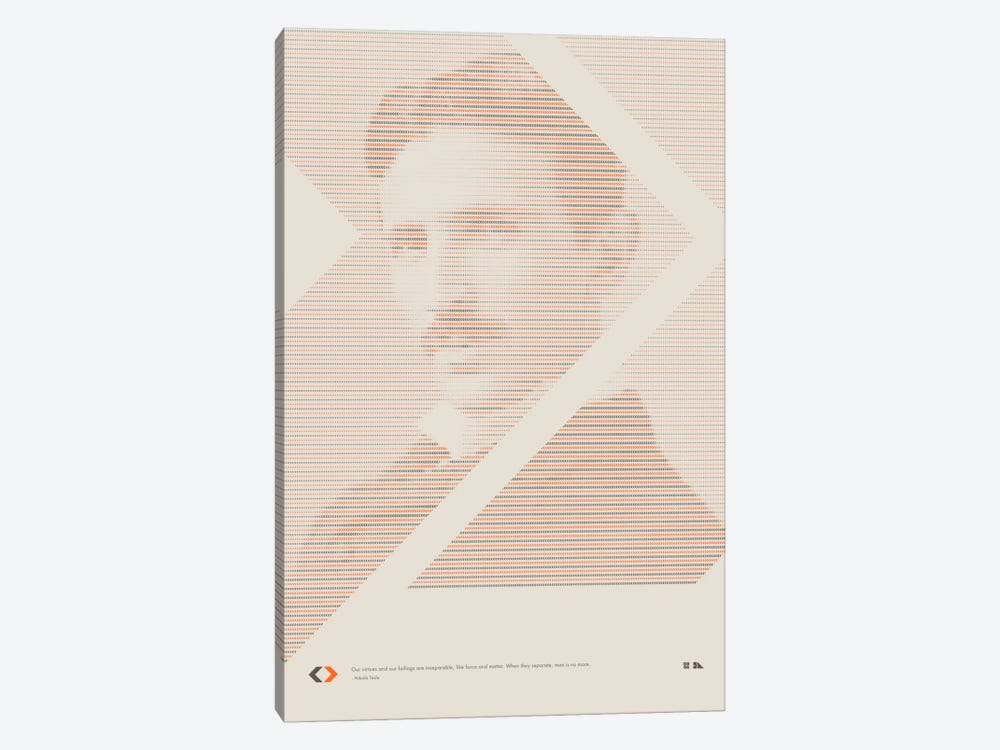 Nikola Tesla by 2046 Design 1-piece Canvas Print