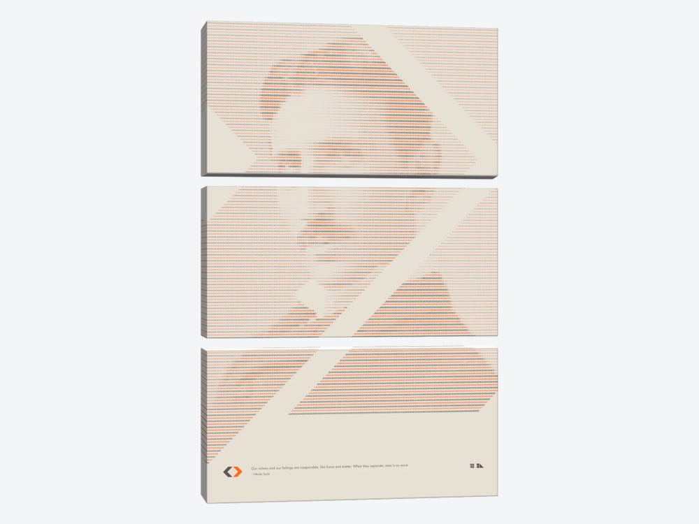 Nikola Tesla by 2046 Design 3-piece Art Print
