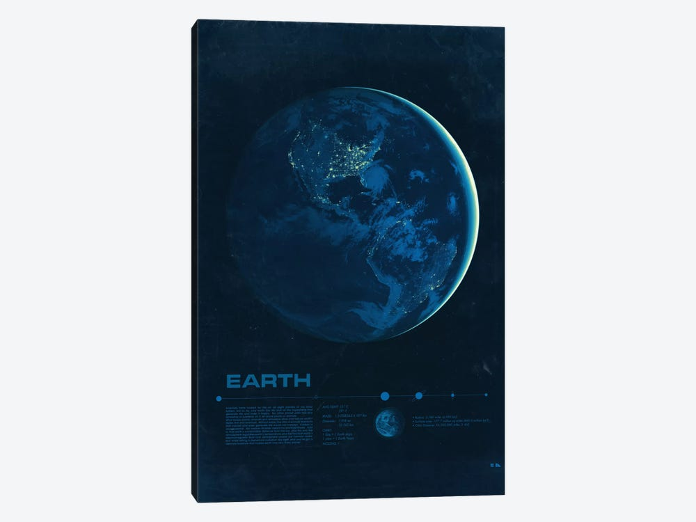Earth by 2046 Design 1-piece Canvas Wall Art