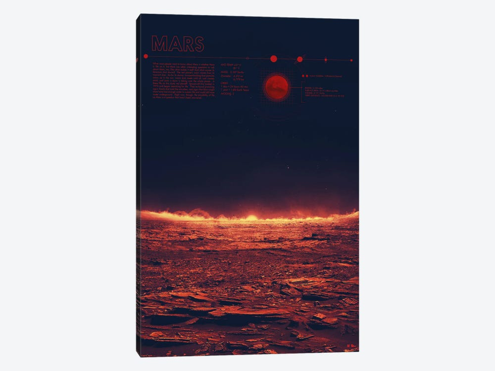 Mars by 2046 Design 1-piece Canvas Artwork