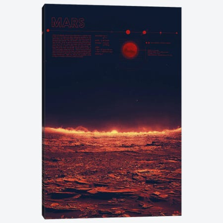 Mars Canvas Print #DES17} by 2046 Design Canvas Art